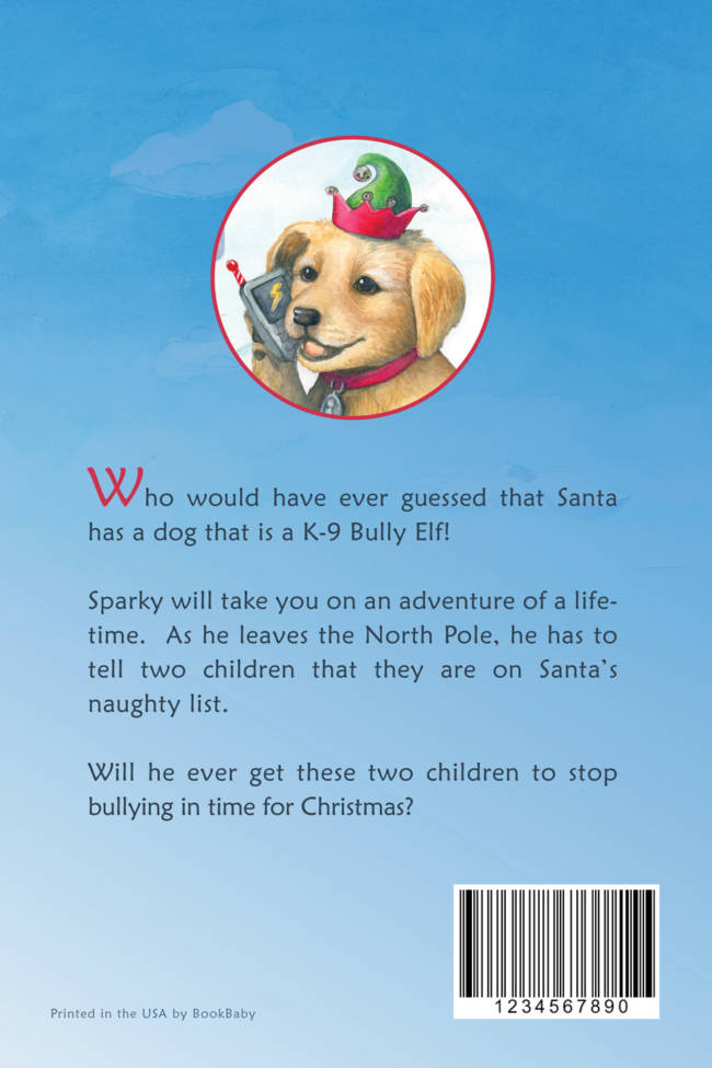 Santas Bully Elf - back cover