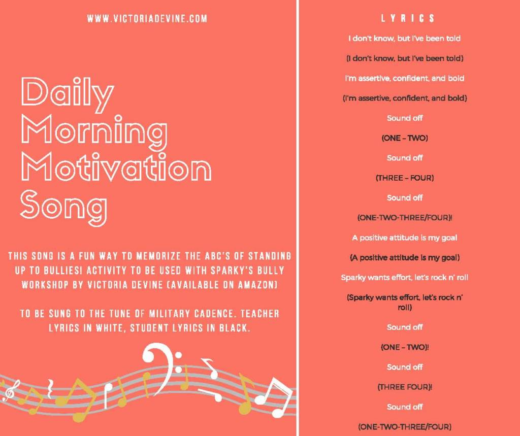 Daily Morning Motivation Song Lesson Plan