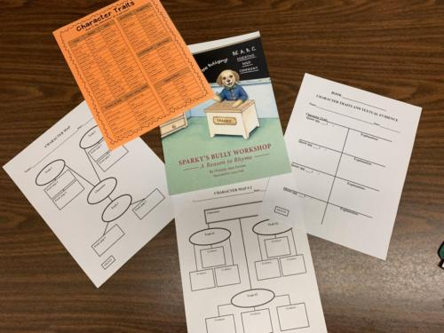 One Book - Character Traits and Main Idea/Details - Writing & Group Projects!