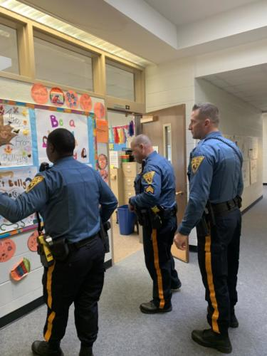 Local Police Officers Judging Our Poster Contest